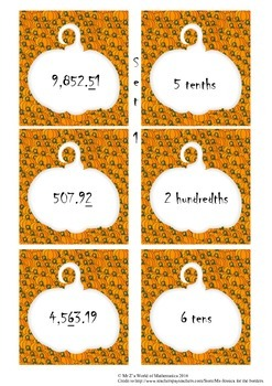 Halloween Math Activities: Place Value Games with Decimals