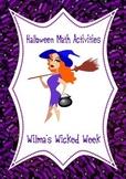 Halloween Math Activities: Wilma's Wicked Week (Measurement)