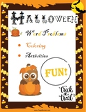 Halloween Math Activities Word Problems FREE!