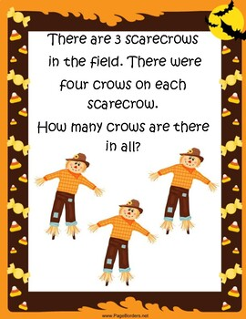 Halloween Math Activities Word Problems!