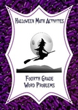 Halloween Math Activities: Word Problems 4th