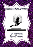 Halloween Math Activities: Word Problems 5th 6th