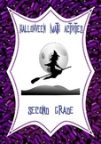 Halloween Math Activities: arrays and word problems 2nd