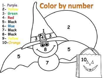 Halloween Math Activities for Numbers 1-10