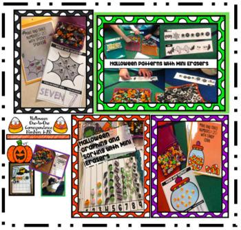 Halloween Math Activities with Mini Erasers