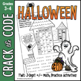 Halloween Math Activity - 3-Digit Addition Subtraction Crack the Code
