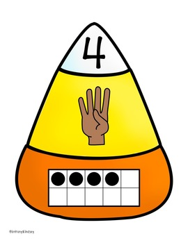 Halloween Math Activity - Candy Corn Number Sense Puzzles 0-10