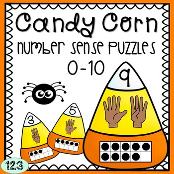 Halloween Math Activity - Candy Corn Number Sense Puzzles 0-10