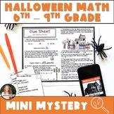 Halloween Math Activity! Digital & Printable Grades 6-9