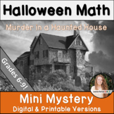 Halloween Math Activity! Grades 6-9!