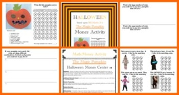 Halloween Math Activity:  Magic Pumpkin Money (Common Core Aligned)