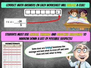 8th Halloween Activity : Halloween Math Mystery - Tricking Treat