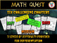 Math Quest - Escape Monster Mansion End of Year Math Review