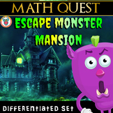Escape Monster Mansion -Math Quest - End of Year Math Review Differentiated Set