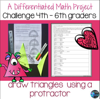 Measuring Angles and Drawing Triangles Craftivity