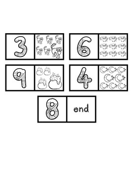 Halloween Math Activity Numbers 1-10 Dominoes