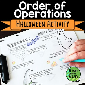 Halloween Math Activity: Order of Operations