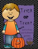 Halloween Math Activity Packet