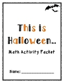 Halloween Math (Common Core Aligned)
