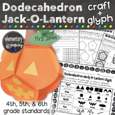 Halloween Math Activity Dodecahedron Jackolantern Glyph an