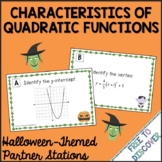 Halloween Math Activity: Quadratic Functions