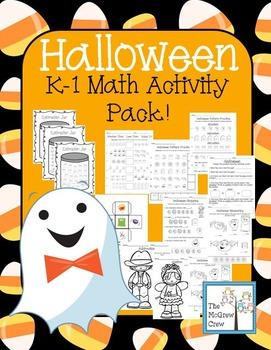 Halloween Math Activity Set Pack Addition Subtraction Meas