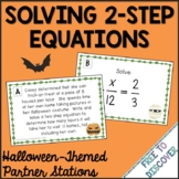 Halloween Math Activity - Solving Two-Step Equations