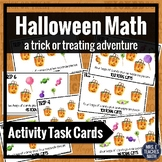 Halloween Math Activity Task Cards