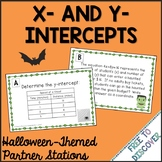 Halloween Math Activity - X- and Y-Intercepts