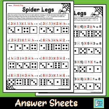 Halloween Math Activity with Worksheets - Computation OR Order of Operations
