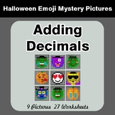 Halloween Math: Adding Decimals - Color-By-Number Mystery