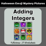 Halloween Math: Adding Integers - Color-By-Number Mystery