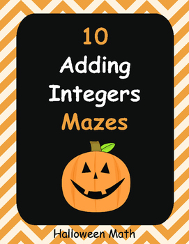 Halloween Math: Adding Integers Maze