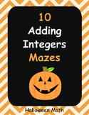 Halloween Math: Adding Integers Maze