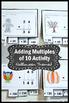 Halloween Math Interactive Notebook, Adding Multiples of 10, 1st Grade Math