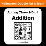 Halloween Math:  Adding Three 2-Digit Addition - Doodle Art & Math
