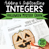 Halloween Math: Adding and Subtracting Integers Mystery Graph