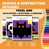 Halloween Math: Adding and Subtracting Integers Pixel Art