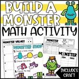 Halloween Math Addition Activity & Craft - Build a Monster