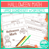 Halloween Math - Addition, Subtraction, Multiplication, Division, Story Problems
