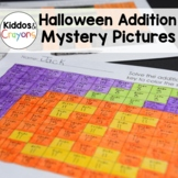 Halloween Addition Facts Within 20 Color by Number Mystery Pictures