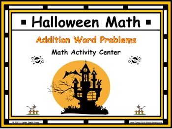 Halloween Math - Addition Word Problems