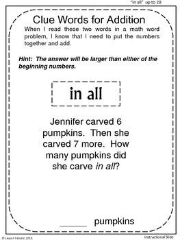 Halloween Math Addition Word Problems