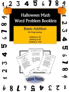 Halloween Math Addition Word Problem Booklets