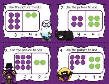 Halloween Math Addition within 20