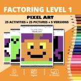 Halloween Math: Algebra Factoring #1 Pixel Art Mystery Pictures