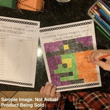 Halloween Math: Algebra Multi-Step Equations Pixel Art Mystery Pictures