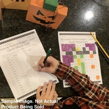 Halloween Math: Algebra Simplifying Exponents Pixel Art Mystery Pictures