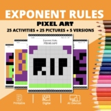 Halloween Math: Algebra Simplifying Exponents Pixel Art My