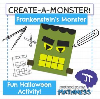 Halloween Math in Art Activity CREATE A MONSTER Frankenstein's Monster
